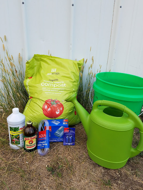 supplies for making compost tea