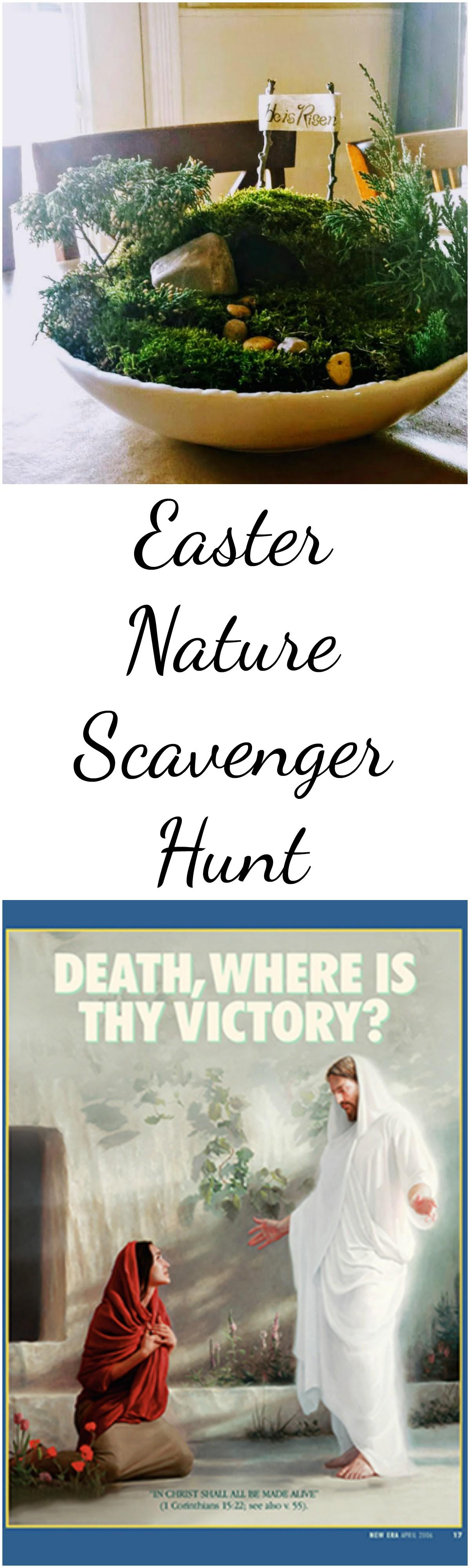 Easter Nature Scavenger Hunt