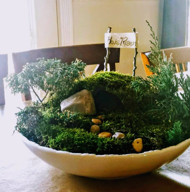 miniature Easter garden